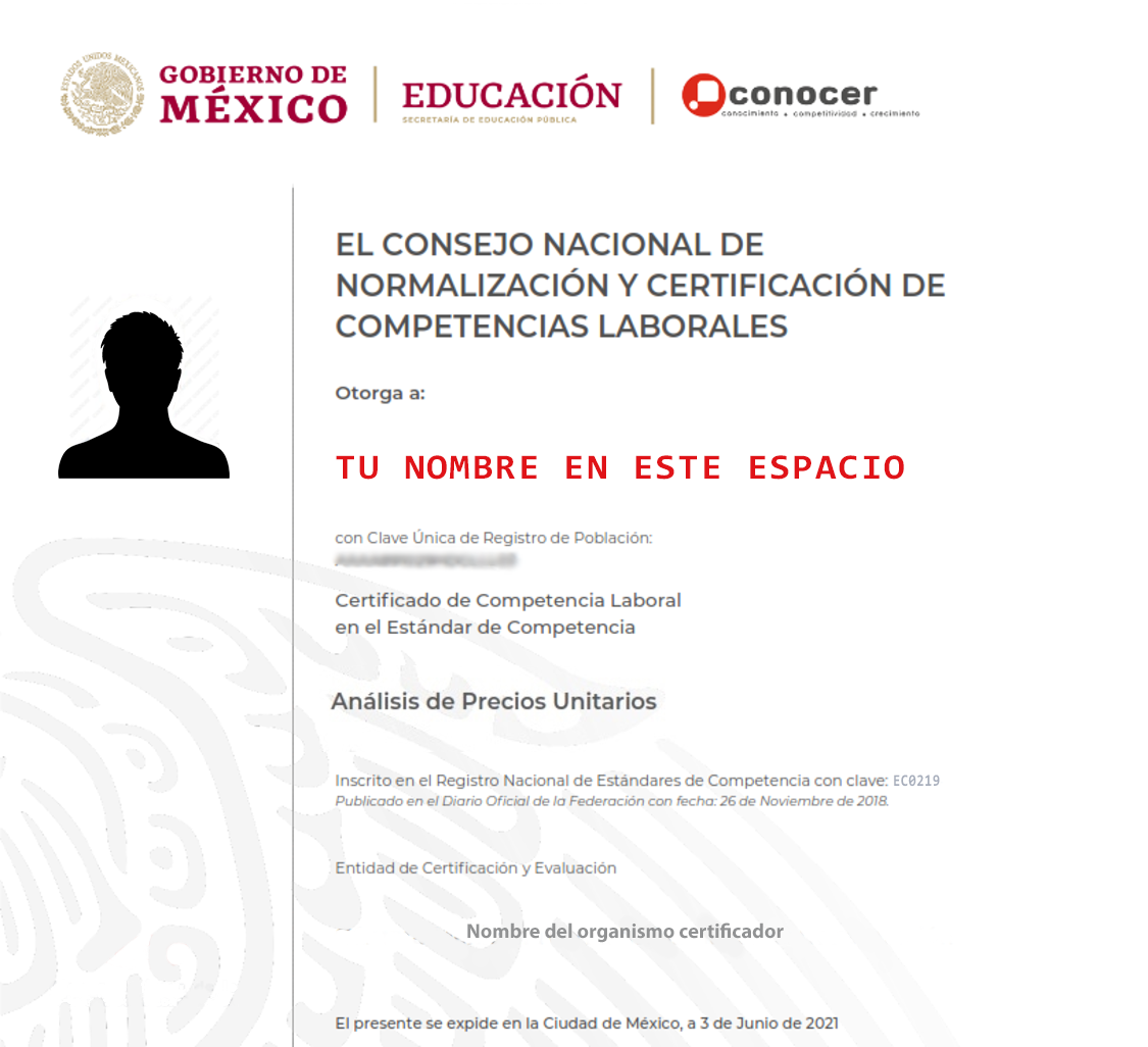 Certificación en Análisis de Precios Unitarios SEP